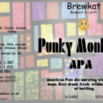 First brew of 2017 bottled- here's the Punky Monkey!